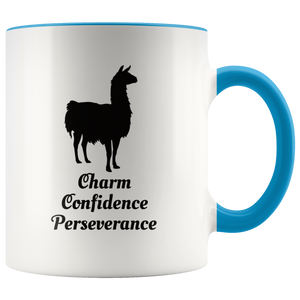 Llama Totem Spirit Animal Coffee Mug Charm Confidence Perseverance - Hundredth Monkey Tees