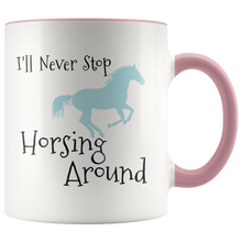 Load image into Gallery viewer, Horse Lovers Riding Coffee Mug Cute Horsing Around Cowboy Cowgirl Gift - Hundredth Monkey Tees