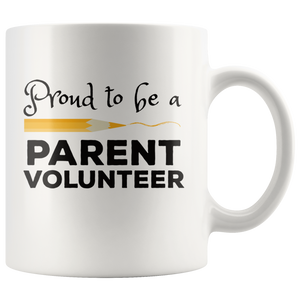 Volunteer Parent Coffee Mug School Chaperone Staff Gift - Hundredth Monkey Tees