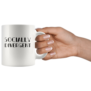 Antisocial Coffee Mug Funny Socially Divergent Introvert Gift  Drinkware