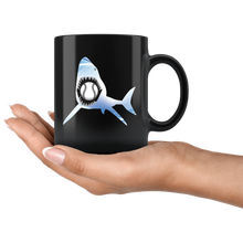 Load image into Gallery viewer, Baseball Shark Coffee Mug Sea Monster Creature Sports Gift - Hundredth Monkey Tees