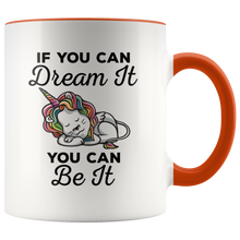 Load image into Gallery viewer, Dream Big Coffee Mug Unicorn Lion Rainbow Cute Gift - Hundredth Monkey Tees