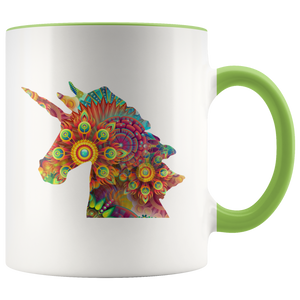 Unicorn Coffee Mug Cute Mug Designs Animals Mystical Colorful - Hundredth Monkey Tees