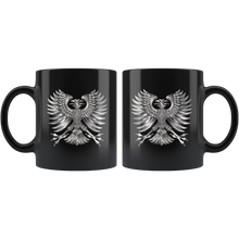 Load image into Gallery viewer, Silver Phoenix Coffee Mug Rise From the Ashes Cool Graphic - Hundredth Monkey Tees