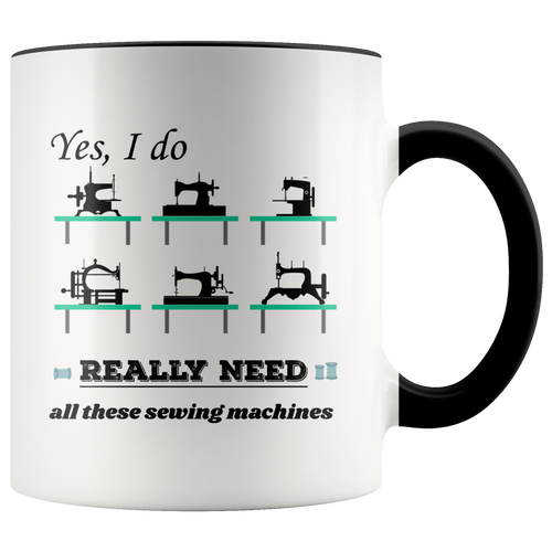 Vintage Sewing Machine Collectors Lovers Funny Humor Coffee Mug