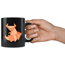 Load image into Gallery viewer, Origami Fox Coffee Mug Cute Paper Folding Design Orange Red Fox - Hundredth Monkey Tees
