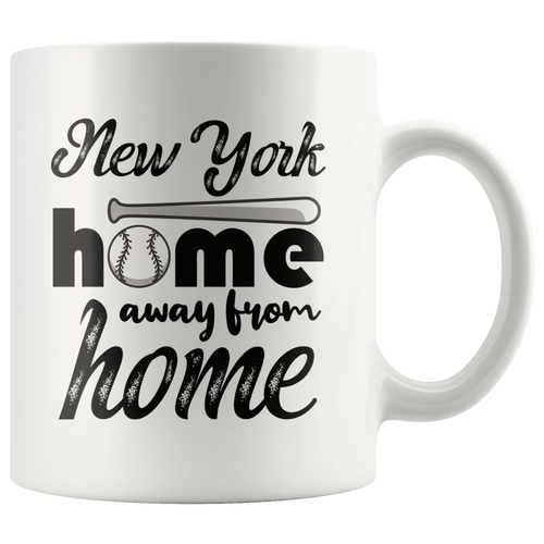 New York Baseball Coffee Mug Souvenir Sports Fans Mug - Hundredth Monkey Tees