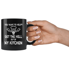 Load image into Gallery viewer, Get Out of My Kitchen Funny Sarcastic Chef Cook Coffee Mug - Hundredth Monkey Tees