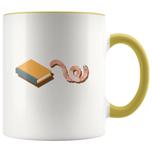 Funny Bookworm Coffee Mug for Those Who Love Reading Books - Hundredth Monkey Tees