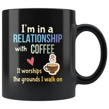 Load image into Gallery viewer, Funny Coffee Lovers Mug Committed Relationship Pun - Hundredth Monkey Tees