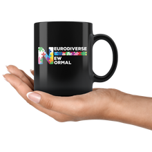 Load image into Gallery viewer, Neurodiversity Coffee Mug Celebrate Neurodiverse is the New Normal - Hundredth Monkey Tees
