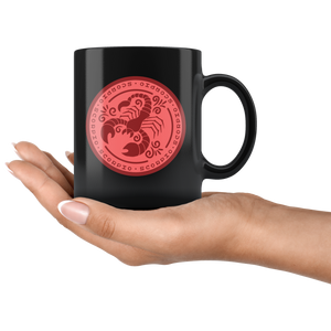 Scorpio Birthday Astrology Zodiac Birth Signs Coffee Mug Black - Hundredth Monkey Tees