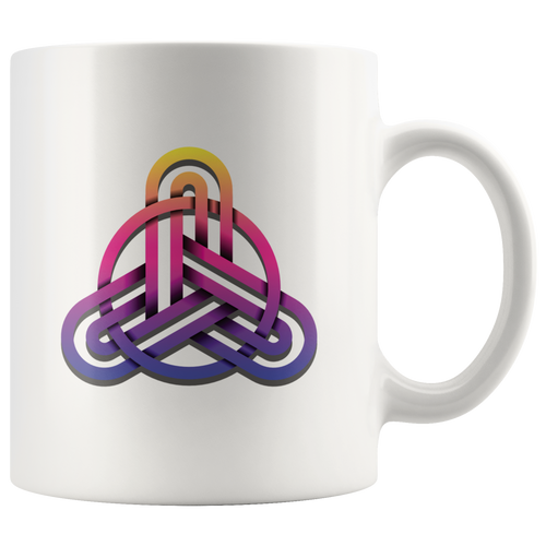 Celtic Knot Trinity Symbol Triquetra Coffee Mug Pagan Wiccan Lovers - Hundredth Monkey Tees
