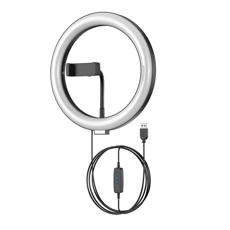 "APEXEL 10"" 26cm LED Selfie Circle Ring Light with Stand and Phone Holder APEXEL Without tripod"