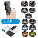 11 in 1 Cell Phone Camera Optical Filter Lens Kits With Clip APEXEL