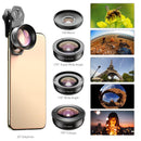 5 in 1 4K HD Phone Camera Lens Kits Wide Angle Macro Telephoto Fisheye APEXEL