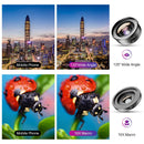 Universal Clip Optical HD Mobile Phone Camera Wide Angle Macro 2in1 Lens Kit Mobile Photography Accessories APEXEL