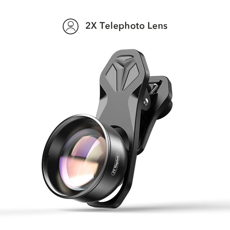 Universal Clip 2x Portrait Telephoto Lens for iPhone APEXEL Single Telephoto Lens