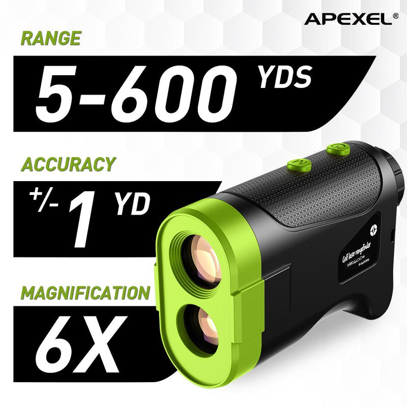 APEXEL Laser Rangefinder 600M 800M 1200M Laser Golf Distance Finder Meter for Golf Sport, Hunting, Survey APEXEL 600