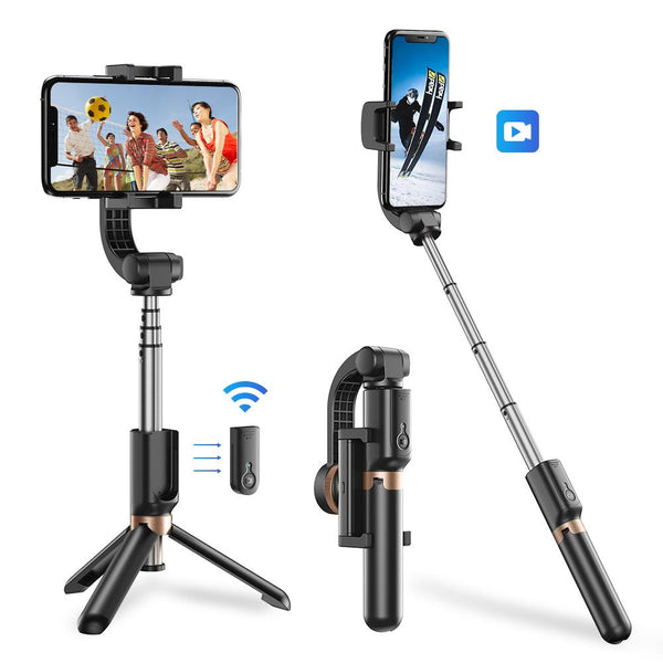 Mini Extendable 360 Degree Selfie Stick with Anti-Shaking Stabilizer One-Axis Gimbal APEXEL