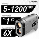APEXEL Laser Rangefinder 600M 800M 1200M Laser Golf Distance Finder Meter for Golf Sport, Hunting, Survey APEXEL 1200