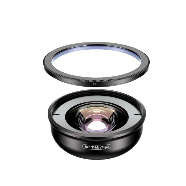 No Distortion 110° HD Wide Angle Lens for Iphone Android Mobile Phone APEXEL With CPL