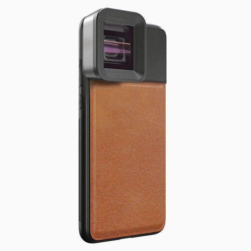 Anamorphic Lens with Case APEXEL Brown Case iPhone Xs Max