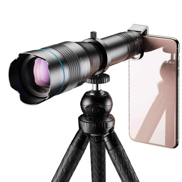 60X Monocular Telescope Lens Astronomical Zoom Extendable Tripod for Phone APEXEL 60X Telescope with Tripod