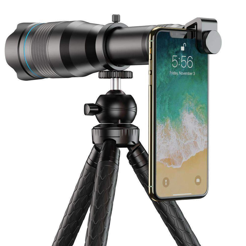 60X Monocular Telescope Lens Astronomical Zoom Extendable Tripod for Phone APEXEL