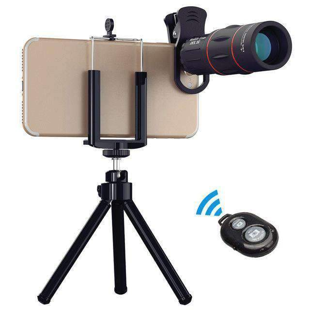18x Telephoto Camera Lens With Clip for Mobile Phone APEXEL 18X Lens with Tripod&Remote Shutter