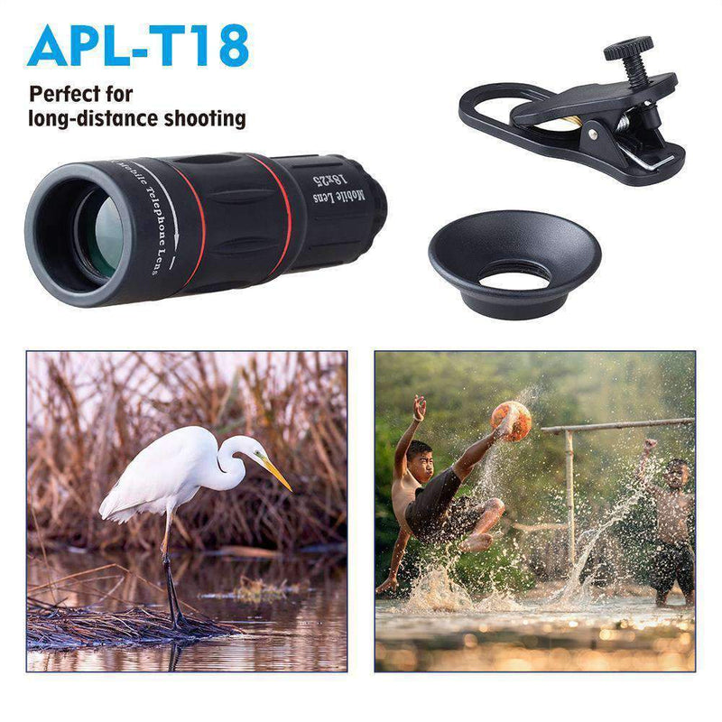 18x Telephoto Camera Lens With Clip for Mobile Phone APEXEL