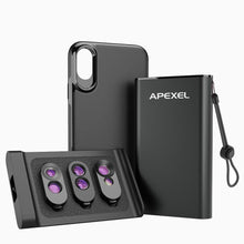 Load image into Gallery viewer, iPhone Camera Lens Kit with Case APEXEL All in One Package iPhone Xs
