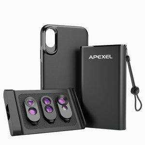 iPhone Camera Lens Kit with Case APEXEL All in One Package iPhone Xs