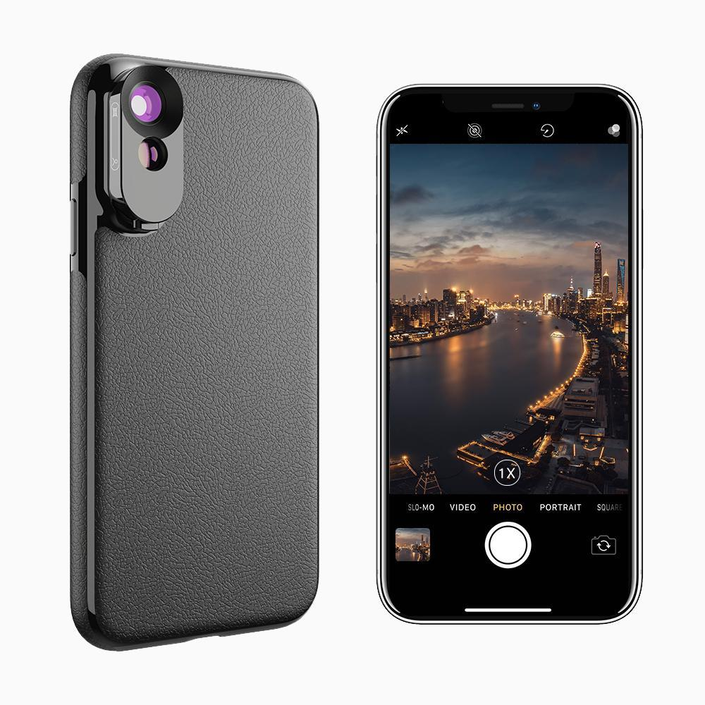 iPhone Camera Lens Kit with Case APEXEL Wide Angle Lens & Telephoto Lens iPhone Xs