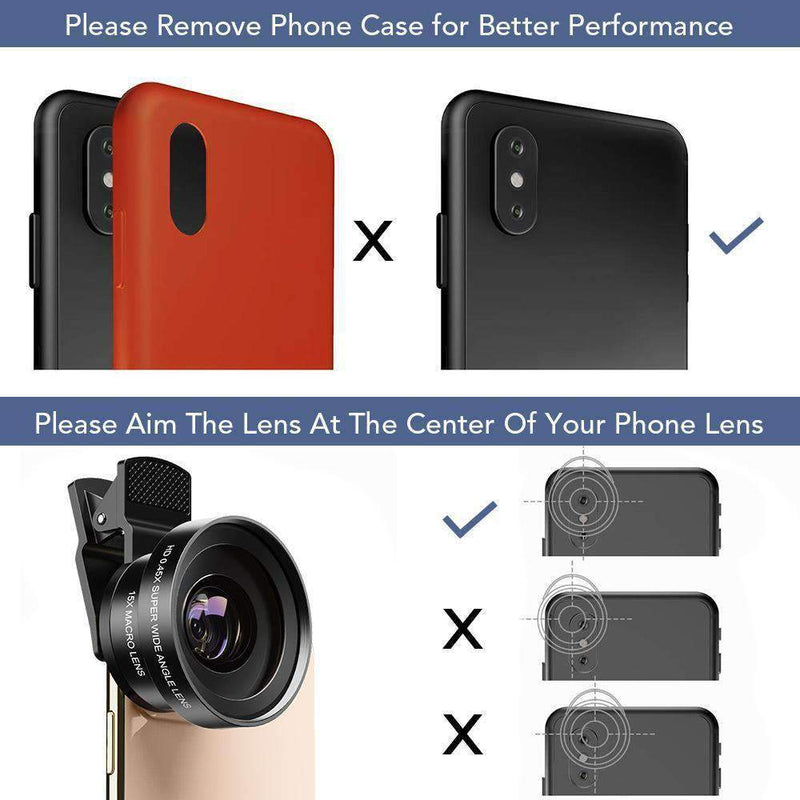 Phone Lens Kits 0.45X Super Wide Angle Macro 37/52mm CPL ND32 Grad Color Filter Mobile Photography Accessories APEXEL