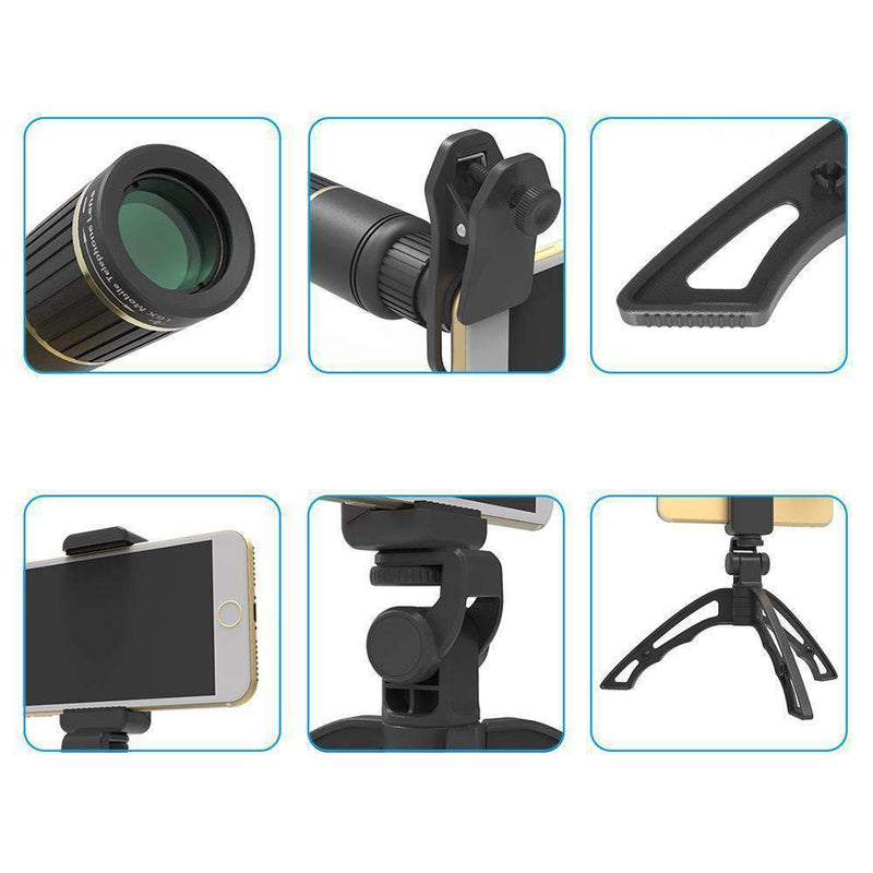 16x HD Telescope Zoom Phone Camera Lens With Handheld Tripod APEXEL