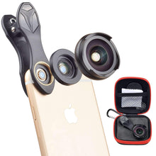 Load image into Gallery viewer, Universal Clip on HD 0.6X Wide Angel Macro 2in1 Lens Kit APEXEL