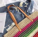 Rainbow Beach Woven Boho  Bag