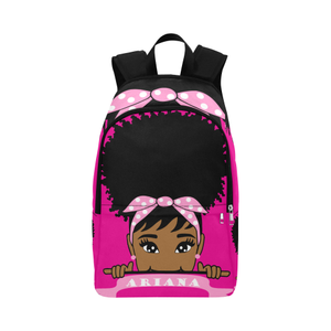 Admirable Bright Eyed African American Afro Puff Little Girl Backpack Free Natural Hairstyles Runnerswayorg