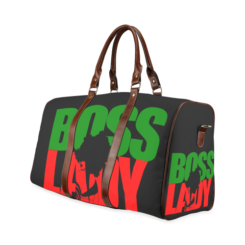 6d63616f548f Boss Lady Afro Red Black Green African American Woman Duffle Bag Weekender