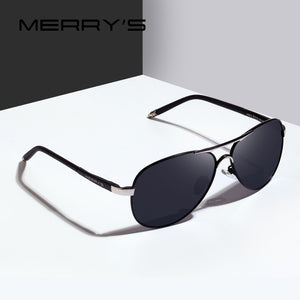 1b6ca094afa03 MERRY S DESIGN Men Classic Pilot Sunglasses Aviation Alloy Frame HD  Polarized Sunglasses For Men UV400 S 8513N