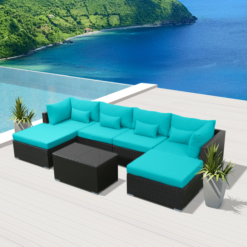 Miraculous 7C Modern Wicker Patio Furniture Sofa Set Home Interior And Landscaping Fragforummapetitesourisinfo