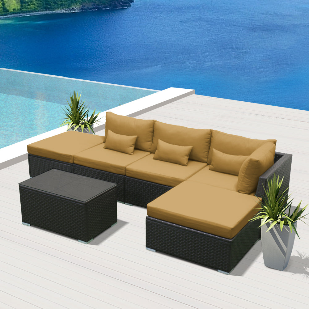 (6L) Modern Wicker Patio Furniture Sofa Set