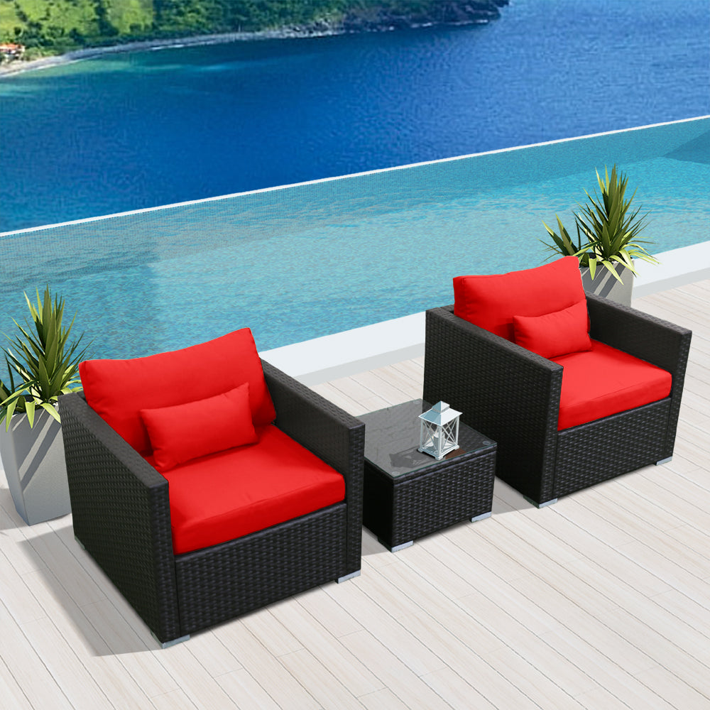 (3D) Modern Wicker Patio Furniture Sofa Set