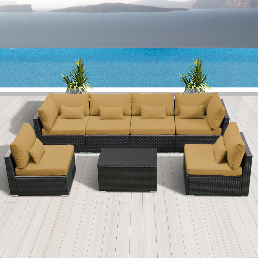(7G) Modern Wicker Patio Furniture Sofa Set