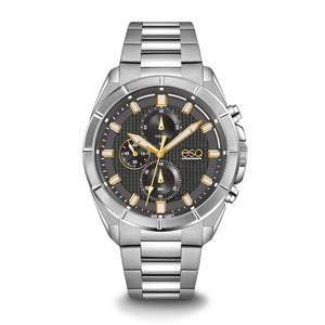 Men's ESQ0132 Stainless Steel Chronograph Bracelet Watch with Textured Grey Dial