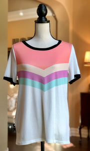 Multi-Color Block Stripe Top