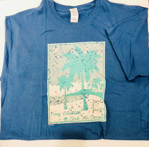 CON T-Shirt - Palm Trees - Blue