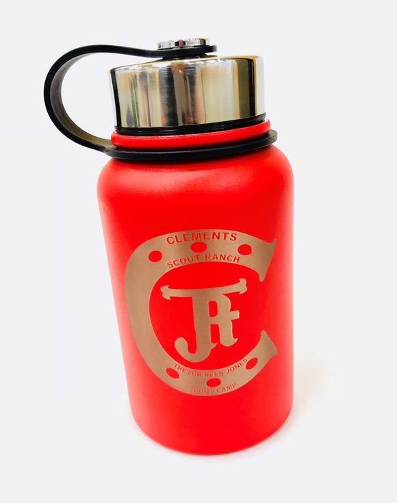 TRJ Insulated Water Bottle - Red