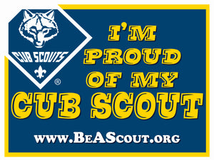 I'm Proud of My Cub Scout Yard Sign